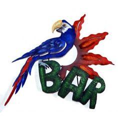 Macaw Bar Sign Wall Art