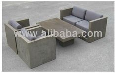 Outdoor Living- Fiber Cement Furniture- Sofaset, View Fiber Cement Furniture, Product Details from Rosa Planters Vietnam Co., Ltd. on Alibaba.com