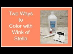 Quick Crafting Tip - Two Ways to Color with Wink of Stella   Stampin' Up!, card, paper, craft, scrapbook, rubber stamp, hobby, how to, DIY, handmade, Live with Lisa, Lisa's Stamp Studio, Lisa Curcio, www.lisasstampstudio.com