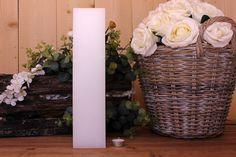 Κεριά μασίφ τετράγωνα σε χρώμα λευκό ΤΧ0940ΧΛΕ. Πλευρά: 9εκ. Ύψος: 40εκ. Vase, Home Decor, Decoration Home, Room Decor, Jars, Vases, Interior Decorating, Jar