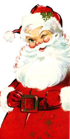 Vintage Santa - my favorite Santa face.