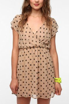 Coincidence & Chance Peggy Sue Polka Dot Dress - Urban Outfitters