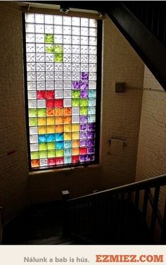 tetris window or you could do a blokus window