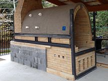 Manabigama wood-fired kiln at Eastern Shore Art Center, Fair Hope, AL  One of many kilns built using Manabigama Pottery Center's kiln plans or building services.