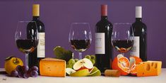 Original Oils by Roberto Salas Red Wine, Alcoholic Drinks, The Originals, Bottle, Glass, Artist, Artwork, Work Of Art, Drinkware
