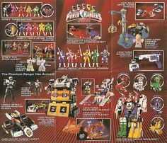 Bandai Power Rangers Turbo Toy Catalogue... I had so many of these toys