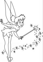 Tinkerbell coloring page Coloring sheets Pinterest More