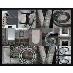 Alphabet Letter Photography Home Decor Wall Art- Live Laugh Love in Alphabet Signs, Alphabet Photos, Typography Alphabet, Graffiti Alphabet, Alphabet Art, Alphabet And Numbers, Letter Art, Photo Name Art, Picture Letters