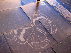 Power wash a stencil onto concrete: NEAT idea for the patio!!