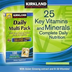 Kirkland Signature™ Daily Multi Pack, 100 Packettes $18.49