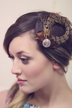 Pheasent Feather Fascinator