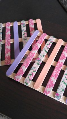 DIY coaster You'll need: - popsicle sticks - paint (color of your choice)…