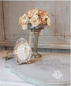 a vintage vanity, chalk paint, decoupage, diy, home decor, repurposing upcycling