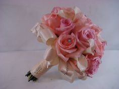 Bridal Bouquet of roses www.plushflowers.ca