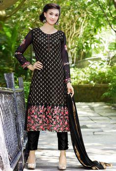 #Black Georgette #Pakistani #Suit #nikvik  #usa  #australia  #pakistanisuit #wedding #canada #wedding