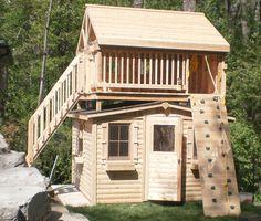 Custom cedar playhouse and fort by Flamborough Patio