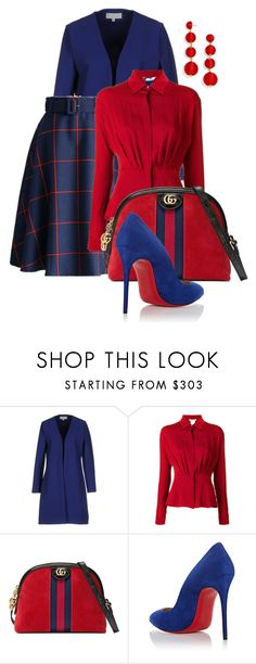 """""""Untitled #401"""" by chocolategirl3145 ❤ liked on Polyvore featuring Christies à Porter, MaxMara, Gucci, Christian Louboutin and BaubleBar"""
