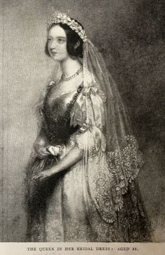 Queen Victoria in her bridal dress, aged 21
