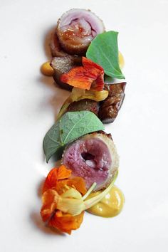 WD-50-- Quail Roulades with Nasturtium Yogurt and Sunchoke Confit