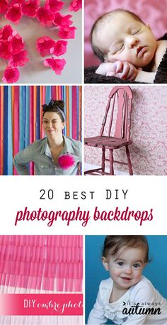 20 best DIY photography backdrops and backgrounds - get great photos in your own home!