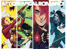 The Fabulous Killjoys (My Chemical Romance) poster and T-shirt-- by Becky Cloonan