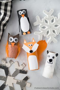 Into toilet paper roll crafts? Toilet paper roll can be turned into something awesome. Our toilet paper roll DIY projects here will help you make some Diy And Crafts Sewing, Easy Diy Crafts, Crafts To Sell, Fun Crafts, Bear Crafts, Orange Craft, Christmas Toilet Paper, Penguin Craft, Toilet Paper Roll Crafts