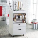 Studio Designs Wrapping Cart - White - The Studio Designs Wrapping Cart - White is ideal for storing ribbons, bows, wrapping paper tubes, and numerous other crafts and supplies....