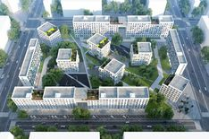 Gallery of 20 Finalists Announced in International Housing Competition for Russia 17 is part of Masterplan architecture - Image 17 of 40 from gallery of 20 Finalists Announced in International Housing Competition for Russia Photograph by Strelka KB Typology Architecture, Social Housing Architecture, Architecture Images, Green Architecture, Futuristic Architecture, Concept Architecture, Residential Architecture, Urban Design Plan, Urban Planning