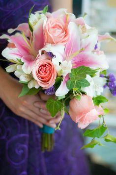 stargazer lily cascade bouquet