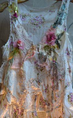 Beautiful Art To Wear Romantic Cotton Jacket ROSES by Paulina722