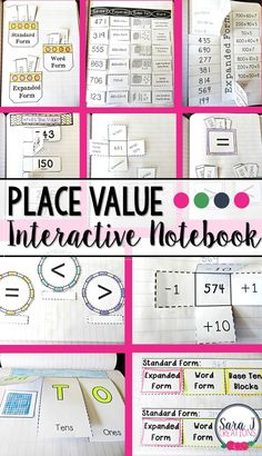 Five For Friday: Place Value I love this math interactive notebook for place value. Ideal for grade but could be used in so many different ways. Place Value Activities, Math Place Value, Math Activities, Math Games, Place Value Foldable, Interactive Math Journals, Math Notebooks, Teaching Place Values, Teaching Math