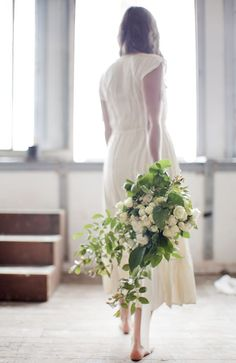 A leafy white bouquet designed by Cecilia Fox   Photo by Mia McDonald
