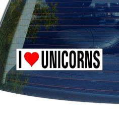 Amazon.com: I Love Heart UNICORNS Window Bumper Sticker: Automotive