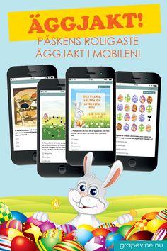 Överraska barnen med en riktigt rolig äggjakt i mobilen! På en karta placerar du själv ut kartnålarna och bestämmer vart äggjakten ska gå av stapeln. Barnen löser allt i mobilen, hittar positioner på kartan. #påsk #äggjakt #gps #skattjakt #grapevine
