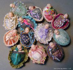 Walnut Babies, Art Dolls, By Stephanie Blythe.