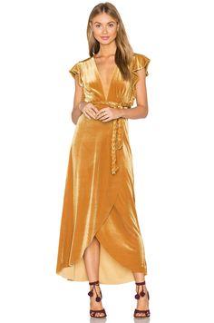 MISA Los Angeles Carolina Dress in Gold