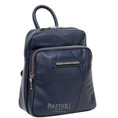Женский рюкзак Mattioli 077-15C темно-синий монако