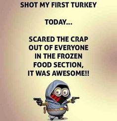 Shot my first turkey. ...xx