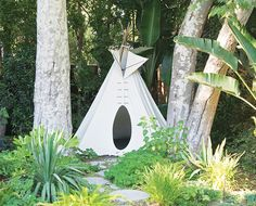 Love the teepee!// Outdoor living tips from the author of Gardens Are For Living