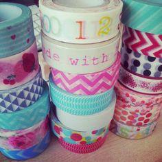 Washi tapes...love them!!!