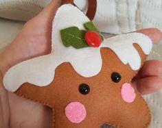 PDF Pattern Sugar Cookie Star Christmas Ornament by Bauldemalinka Felt Christmas Decorations, Felt Christmas Ornaments, Christmas Crafts, Christmas Nativity, Christmas Printables, Christmas Projects, Felt Crafts, Holiday Crafts, Felt Ornaments Patterns