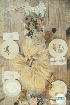 Fall table setting - thanksgiving