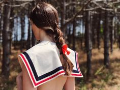 Sailor collar - organic cotton Sailor Collar, Gym Bag, Organic Cotton, Bags, Fashion, Handbags, Moda, Fashion Styles, Fashion Illustrations
