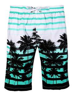 0cc6113b5d APTRO Men's Quick Dry Board Shorts Printed Palm Beach Swim Wear: Amazon.co. uk: Clothing