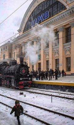 Kharkiv, Ukraine train station.