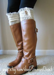 Katie.J.Gibson ~ Knee Warmers made from an old Sweater