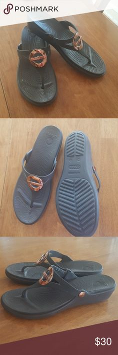 Crocs sandal size 11 Brand new without tags. Never worn.  Brown. Size 11. CROCS Shoes Sandals