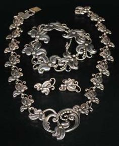 Silver Jewelry Price Guide: Mexican Silver Parure by Margot de Taxco