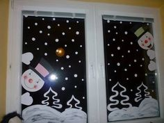 2017 year for preschool wall, window decorations and cell phones, school twins - Christmas Classroom Door, Christmas Door, Christmas Crafts For Kids, Xmas Crafts, Classroom Decor, Christmas Window Decorations, Theme Noel, Diy Weihnachten, Ideas