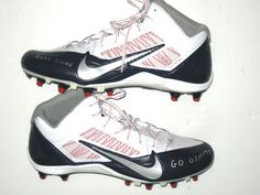 Kerry Wynn New York Giants 2014 Rookie Year Game Issued   Signed Nike Alpha  Pro Cleats 9071a09ab